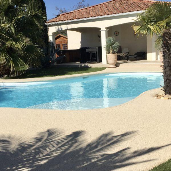 Revetement pour piscine en moquette de pierre Living Stone
