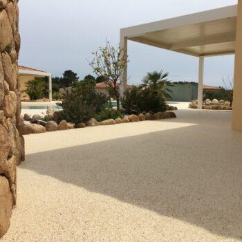 Revêtement pour terrasse en moquette de marbre Living Stone